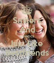 Smilers And Lovatics Just Like  Bestfriends - Personalised Poster large