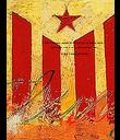 Som Catalans, volem el millor per la nostra terra. Lluitarem fins a la fi dels nostres dies. Visca Catalunya Lliure. - Personalised Poster large