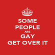 SOME PEOPLE ARE GAY GET OVER IT - Personalised Poster large