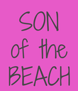 SON of the BEACH - Personalised Poster large