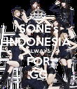 SONE's INDONESIA ALWAYS FOR GG - Personalised Poster large