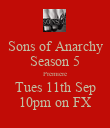 Sons of Anarchy Season 5 Premiere Tues 11th Sep 10pm on FX - Personalised Poster large