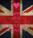SOPHIE AND MAY BESTFRIENDS  ALWAYS - Personalised Poster large