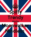 Spiffy Trendy Misfits Moonwalker Mindless  - Personalised Poster large