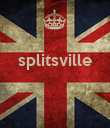 splitsville    - Personalised Large Wall Decal