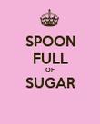 SPOON FULL OF SUGAR  - Personalised Poster large
