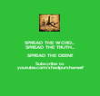 SPREAD THE WORD... SPREAD THE TRUTH... SPREAD THE DEEN!! Subscribe to  youtube.com/shadpurshareef - Personalised Poster large