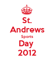 St. Andrews Sports Day  2012 - Personalised Poster large