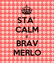 STA'  CALM E BRAV MERLO - Personalised Poster large