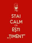 STAI CALM CĂ EŞTI ,,ŢIMENT'' - Personalised Poster large