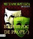 STAI CALM SI  BATETI JOC DE PROFE :) - Personalised Poster large