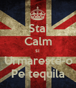 Stai Calm si  Urmareste-o Pe tequila - Personalised Large Wall Decal