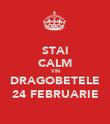 STAI CALM VIN DRAGOBETELE 24 FEBRUARIE - Personalised Poster large