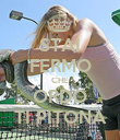 STAI FERMO CHE ORDO TI PITONA - Personalised Poster large