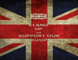 STAND  UP  AND SUPPORT OUR TROOPS - Personalised Poster large