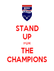 STAND UP FOR THE CHAMPIONS - Personalised Poster large