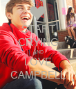 START CRYING AND LOVE CAMPBELL - Personalised Poster large