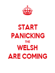 START PANICKING THE WELSH ARE COMING - Personalised Poster large