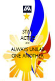 STAY ACTIVE and  ALWAYS UNILAB ONE ANOTHER - Personalised Poster large