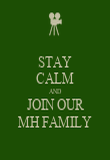 STAY CALM AND JOIN OUR MH FAMILY - Personalised Poster large