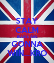 STAY CALM BLUES ARE GONNA WIN...KRO - Personalised Poster large