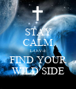 STAY CALM L-O-V-E FIND YOUR WILD SIDE - Personalised Poster large