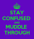 STAY CONFUSED  AND MUDDLE  THROUGH - Personalised Poster large
