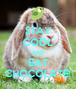 STAY COOL AND EAT CHOCOLATE! - Personalised Poster large