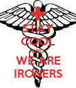 STAY COOL AND WE ARE IRONERS - Personalised Poster large