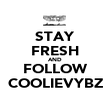 STAY FRESH AND FOLLOW COOLIEVYBZ - Personalised Poster large