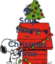 Stay Merry It's Christmas Time - Personalised Poster large