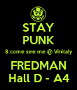 STAY PUNK & come see me @ Vinitaly FREDMAN Hall D - A4 - Personalised Poster large