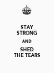 STAY STRONG AND SHED THE TEARS - Personalised Poster large
