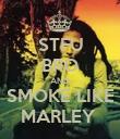 STFU BRO AND SMOKE LIKE MARLEY  - Personalised Poster large