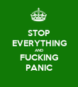 STOP EVERYTHING AND FUCKING PANIC - Personalised Poster large