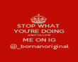 STOP WHAT  YOU'RE DOING AND FOLLOW ME ON IG @_bornanoriginal - Personalised Poster large