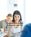 Study English online  in Summer with us! - Personalised Poster large