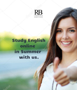 Study English                online                in Summer                with us.                - Personalised Poster large
