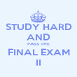 STUDY HARD AND PASS THE FINAL EXAM II - Personalised Poster large
