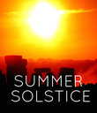SUMMER  SOLSTICE - Personalised Poster large