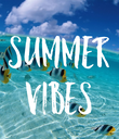 SUMMER VIBES - Personalised Poster large