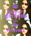 Support @PrillyBie AND Be Prillvers - Personalised Poster large