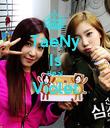 TaeNy Is Real Violet  - Personalised Poster large
