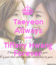 Taeyeon Allways Love Tiffany Hwang Forever - Personalised Poster large