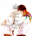 Take Care AND BE SAFE XS  - Personalised Poster large
