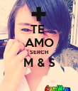 TE  AMO SERCH M & S  - Personalised Poster large