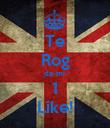 Te Rog da-mi  1 Like! - Personalised Poster large