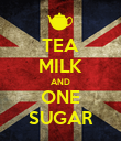 TEA MILK AND ONE SUGAR - Personalised Poster large