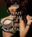 TEAM  MINAJ FOR LIFE NATALIE - Personalised Large Wall Decal