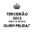 """TERCEIRÃO 2012 """"NÃO TÁ MORTO QUEM PELEIA!""""  - Personalised Poster large"""